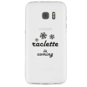 TPU0GALS7RACLETTECOMING - Coque souple pour Samsung Galaxy S7 SM-G930 avec impression Motifs raclette is coming